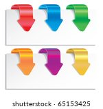 colorful arrows. | Shutterstock . vector #65153425