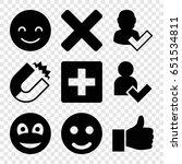 positive icons set. set of 9... | Shutterstock .eps vector #651534811