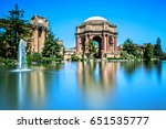 palace of fine arts in san... | Shutterstock . vector #651535777