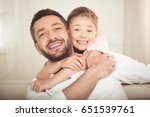 close up portrait of happy... | Shutterstock . vector #651539761