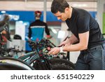 young male mechanic is... | Shutterstock . vector #651540229