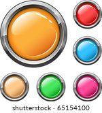 buttons different colors with... | Shutterstock . vector #65154100