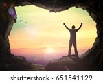 thanks god concept  silhouette... | Shutterstock . vector #651541129