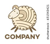 sheep and wool logo | Shutterstock .eps vector #651543421