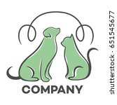 cat and dog logo | Shutterstock .eps vector #651545677