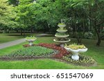 vase decoration in the park ... | Shutterstock . vector #651547069