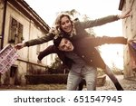 couple in shopping together.... | Shutterstock . vector #651547945
