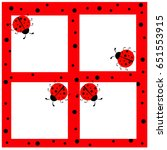 ladybug frame | Shutterstock .eps vector #651553915