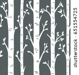 Seamless Pattern. Birch Or...