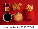 concept of mock up burger ...   Shutterstock . vector #651557641