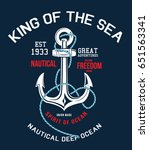 anchor sailor t shirt graphic... | Shutterstock .eps vector #651563341