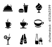 dinner icon set. food icons... | Shutterstock .eps vector #651565399