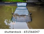 flooded car  which struck a... | Shutterstock . vector #651566047