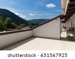 balcony with hill view  nobody... | Shutterstock . vector #651567925