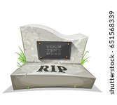 tombstone with rip inscription  ... | Shutterstock .eps vector #651568339
