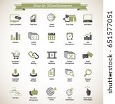 set of seo and development icons | Shutterstock .eps vector #651577051