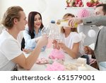 party at home with friends | Shutterstock . vector #651579001