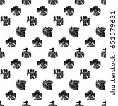 seamless maya pattern. black... | Shutterstock .eps vector #651579631