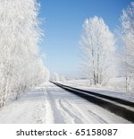 Winter Road On A Sunny Frosty...
