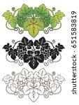 decorative vignette grape... | Shutterstock .eps vector #651583819