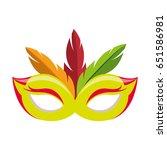 festival feather mask | Shutterstock .eps vector #651586981