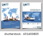 sea shipping banner template... | Shutterstock .eps vector #651603805