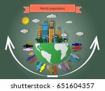 the rise of the world...   Shutterstock .eps vector #651604357