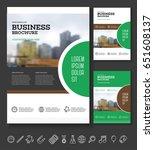 modern brochure or annual... | Shutterstock .eps vector #651608137