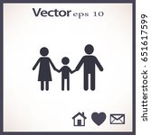 flat icon family. | Shutterstock .eps vector #651617599