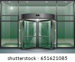 the facade of a modern shopping ... | Shutterstock .eps vector #651621085