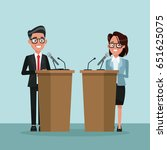 background scene presidential... | Shutterstock .eps vector #651625075