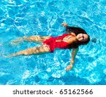 swimming pool female | Shutterstock . vector #65162566