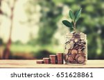 concept growth money and tree... | Shutterstock . vector #651628861