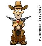cartoon cowboy from the wild... | Shutterstock .eps vector #651630517