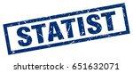 square grunge blue statist stamp | Shutterstock .eps vector #651632071