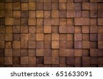 Wall Texture With Wood Cube For ...