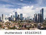 aerial view of office buildings ... | Shutterstock . vector #651633415