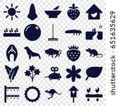 nature icons set. set of 25... | Shutterstock .eps vector #651635629