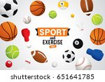 vector sport and exercise club... | Shutterstock .eps vector #651641785