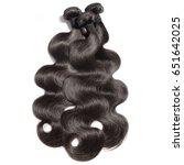 body wave virgin remy black...   Shutterstock . vector #651642025