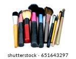set women's makeup tool brush ...   Shutterstock . vector #651643297