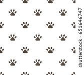 paw print vector seamless... | Shutterstock .eps vector #651646747