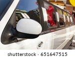 white stretch limousine | Shutterstock . vector #651647515