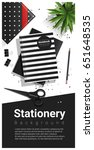 creative scene with black and... | Shutterstock .eps vector #651648535