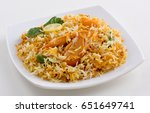 spicy chicken biryani | Shutterstock . vector #651649741
