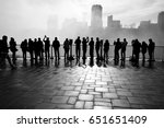 background full with people | Shutterstock . vector #651651409