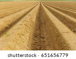 plowed agricultural fields... | Shutterstock . vector #651656779