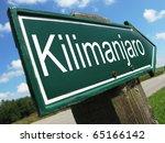 Kilimanjaro Road Sign