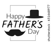 happy father's day greeting... | Shutterstock . vector #651668977