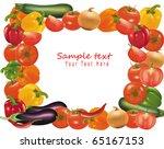 frame made from vegetables.... | Shutterstock .eps vector #65167153